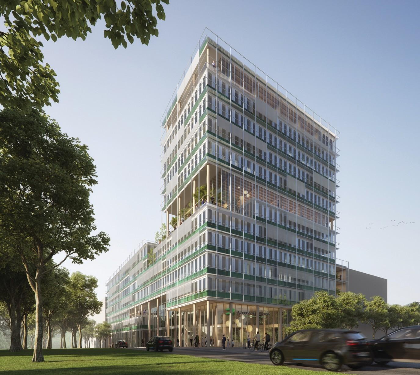 1. Platz Architektur-Wettbewerb UmweltBank
