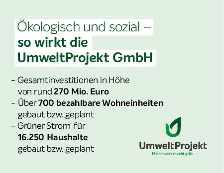 So wirkt die UmweltProjekt AG