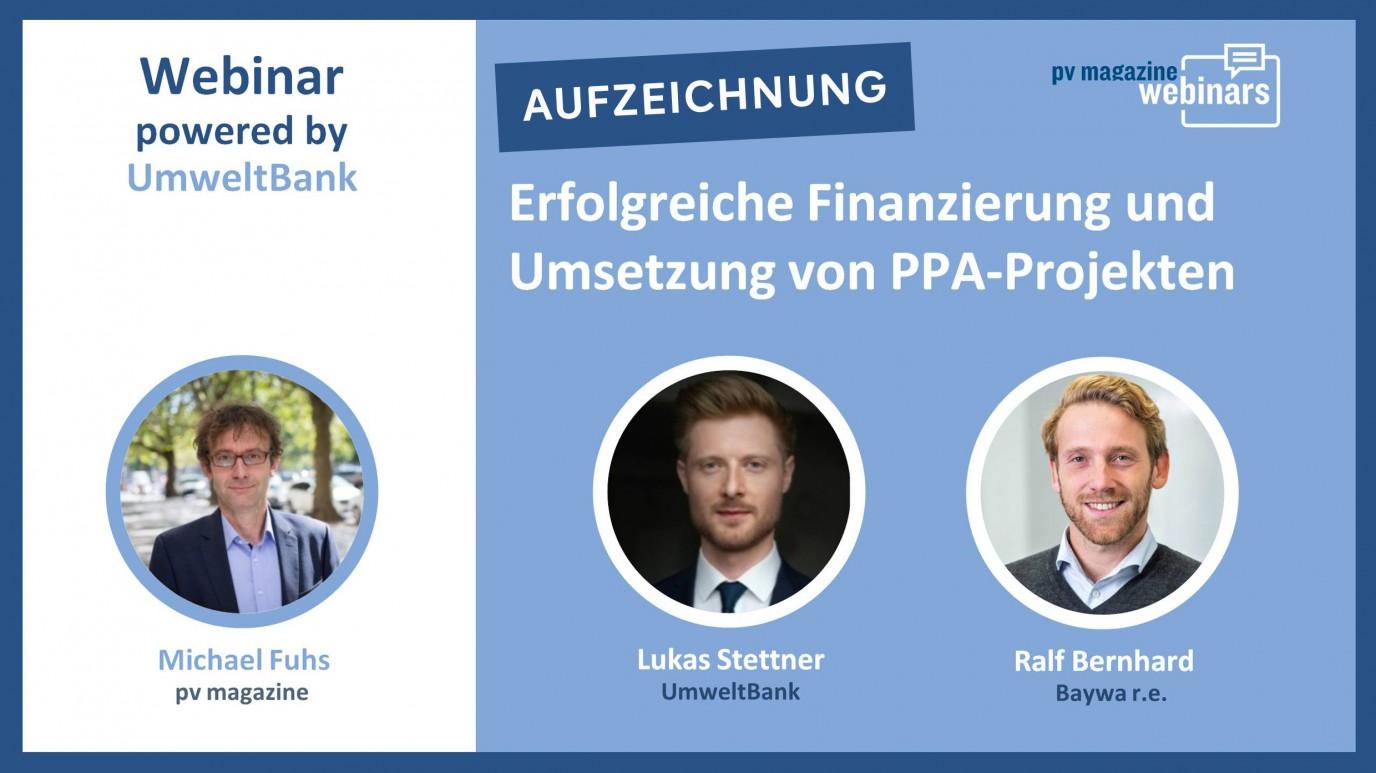 Erfolgreiche Finanzierung und Umsetzung von PPA-Projekten